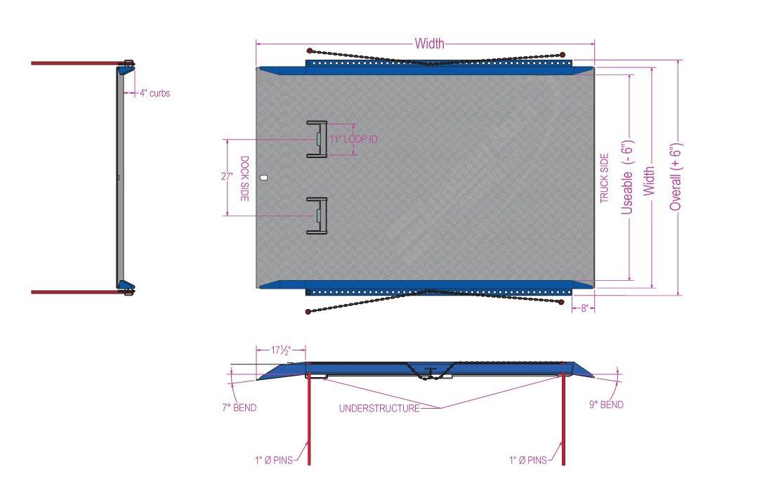 Dock Board Model C Drawing
